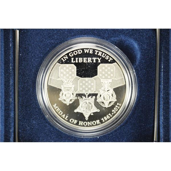 2011 MEDAL OF HONOR COMMEMORATIVE PROOF SILVER