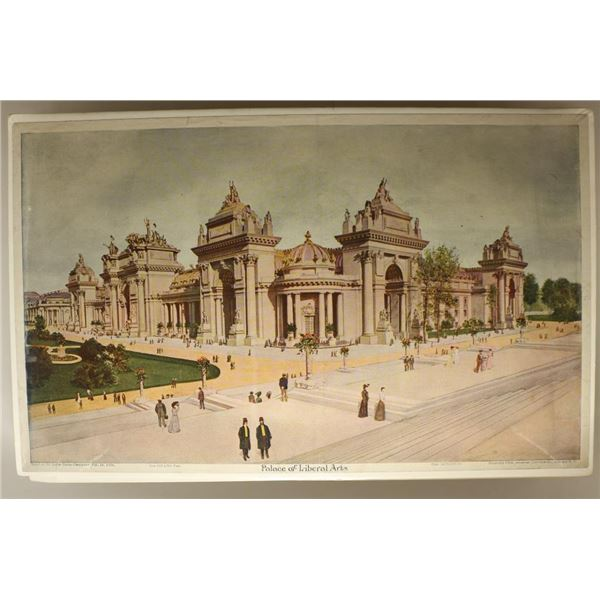 8 ASSORTED 1904 LITHOGRAPHS OF VARIOUS BUILDINGS
