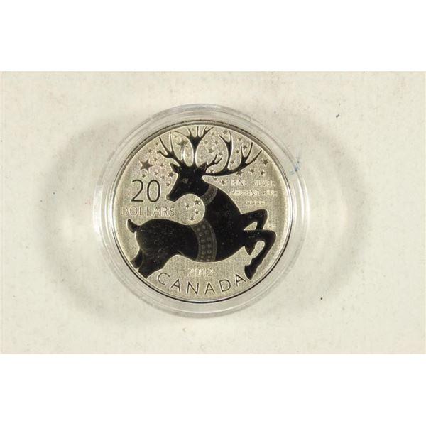 2012 CANADA SILVER SPECIMEN FINE SILVER $20