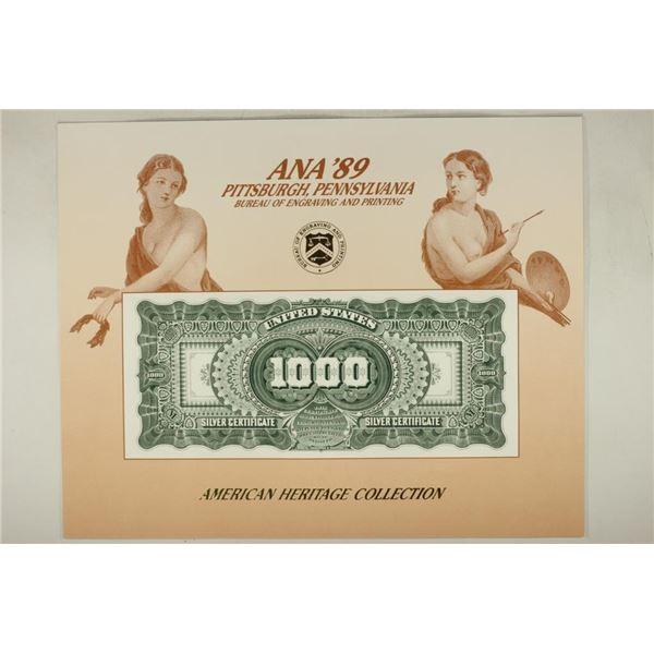 ANA '89 PITTSBURG PENNSYLVANIA SOUVENIR CARD