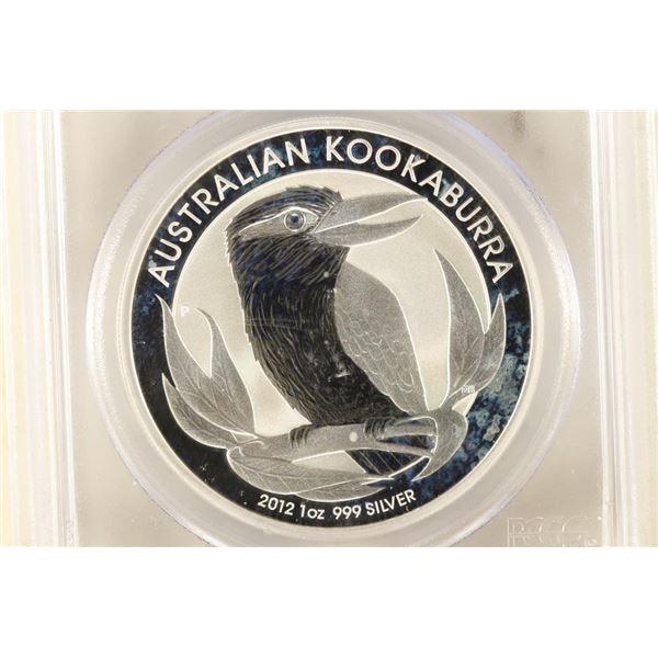 2012-P AUSTRALIA KOOKABURRA 1 OZ SILVER DOLLAR