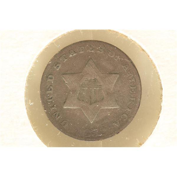 1852 THREE CENT PIECE (SILVER) (FINE)