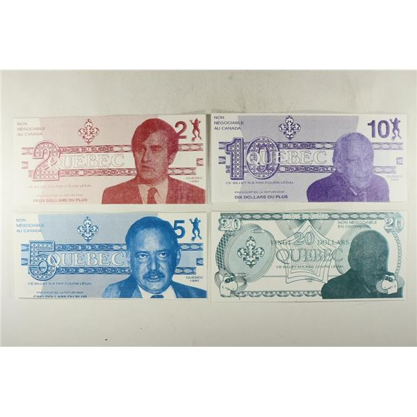 4 PIECES OF CANADA POLITICAL CURRENCY