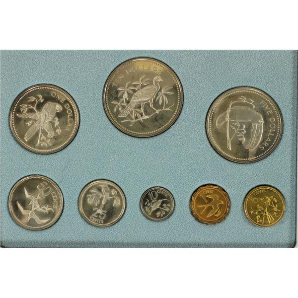 1975 BELIZE 8 COIN PROOF SET ORIGINAL MINT PACKAGE