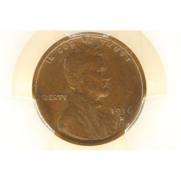 1916-D LINCOLN CENT PCGS AU53
