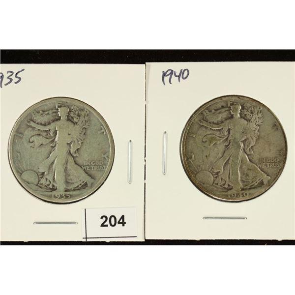 1935 & 1940 WALKING LIBERTY HALF DOLLARS