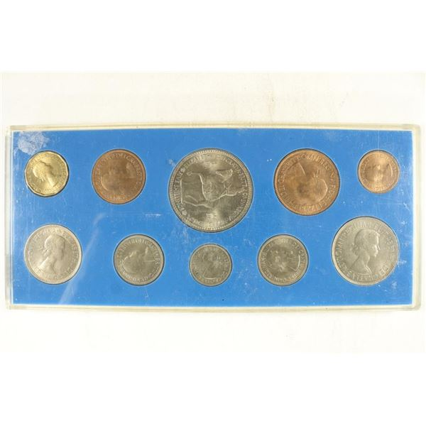 1953 GREAT BRITAIN 10 COIN MINT SET IN PLASTIC