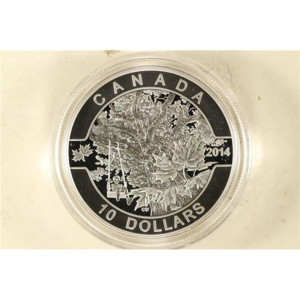 2014 CANADA DOWN BY THE OLD MAPLE TREE $10 FINE