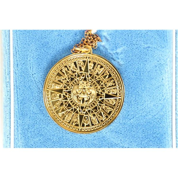 PENDANT OF THE AZTEC SUN WAS CRAFTED IN MEXICO