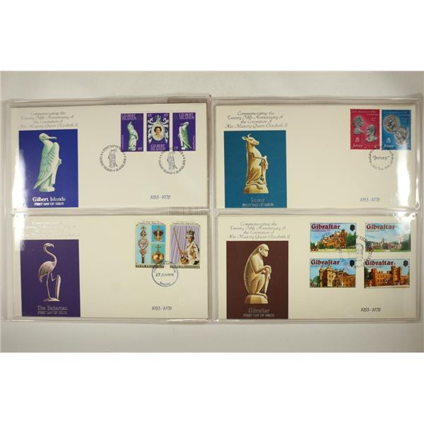 4 ASSORTED 1978 1ST DAY COVERS BAHAMAS, GIBRALTAR,