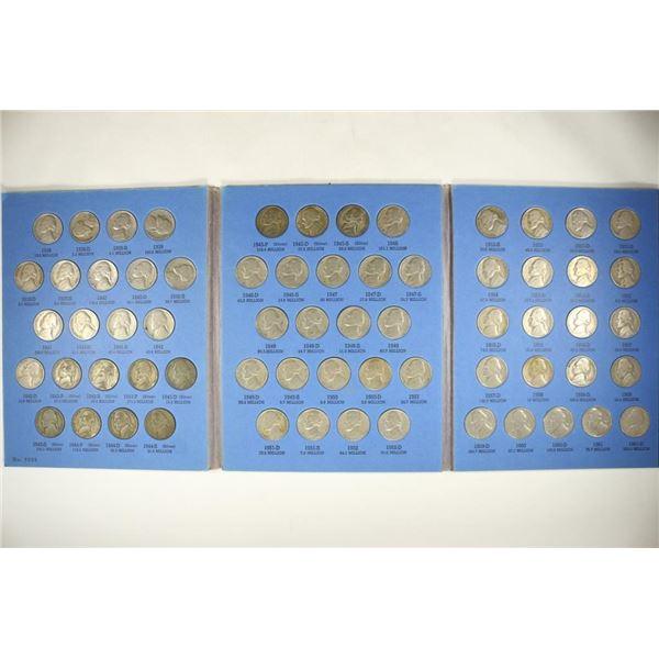 COMPLETE 1938-1961 JEFFERSON NICKEL SET 65 COINS