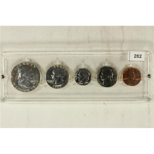 1963 US SILVER PROOF SET IN PLASTIC CASE