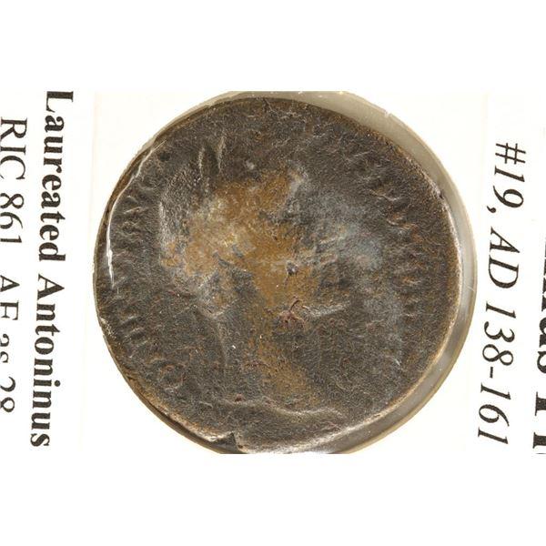 138-161 A.D. ANTONINUS PIUS ANCIENT COIN (FINE)