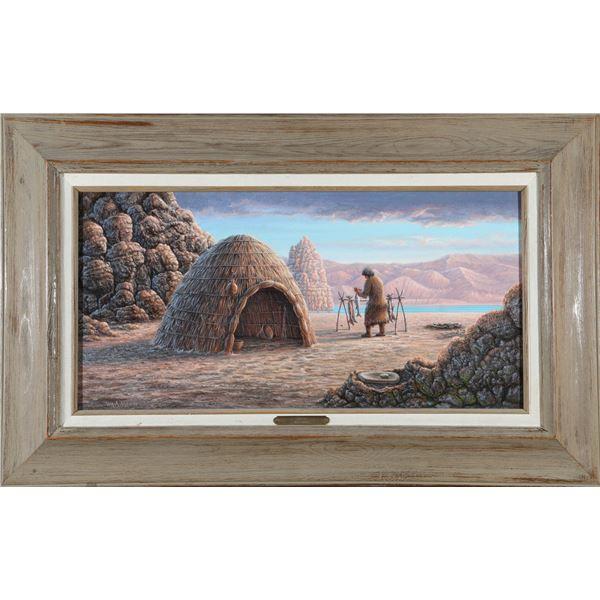 """Wm. A. Moore Oil, """"Sainobi"""" Framed Painting  [135304]"""