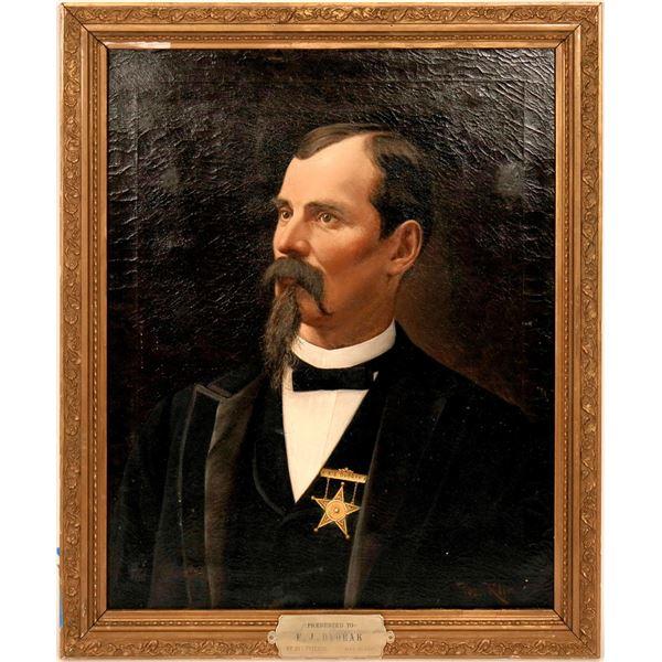 Franz Dvorak Oil Painting, 1892  By Jos. Klir [57755]