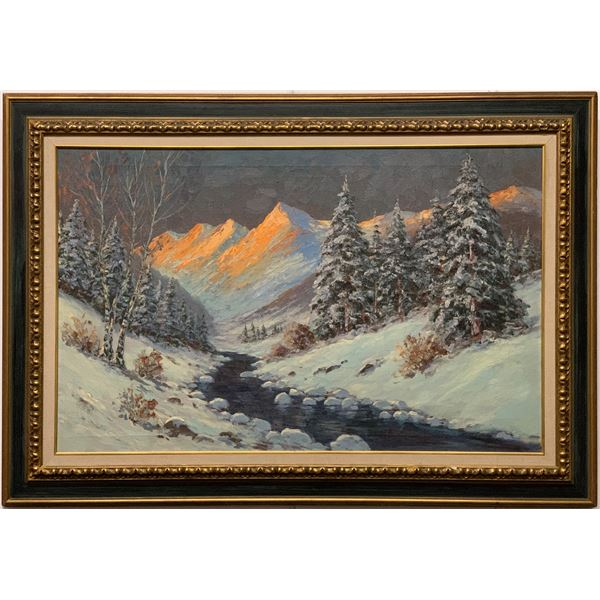 Winter Mountain Sunrise Painting by Helio Wernegreen  [121240]
