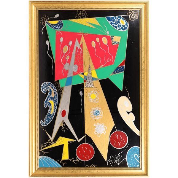 Mira Paris Signed Artwork, Acrylic, Framed  [132268]