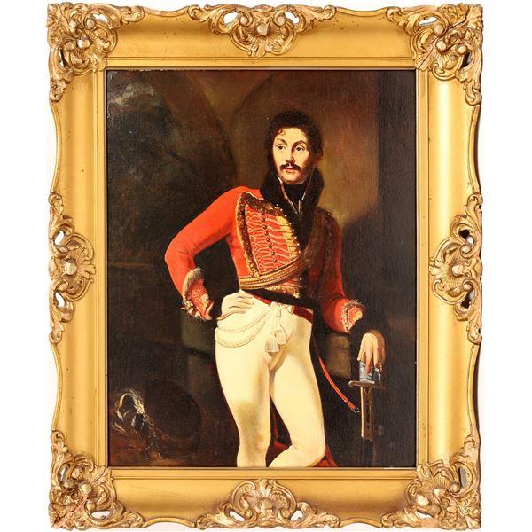 Russian Art: Kiprensky's Portrait of Evgraf Davydov, Enhanced Copy  [132265]