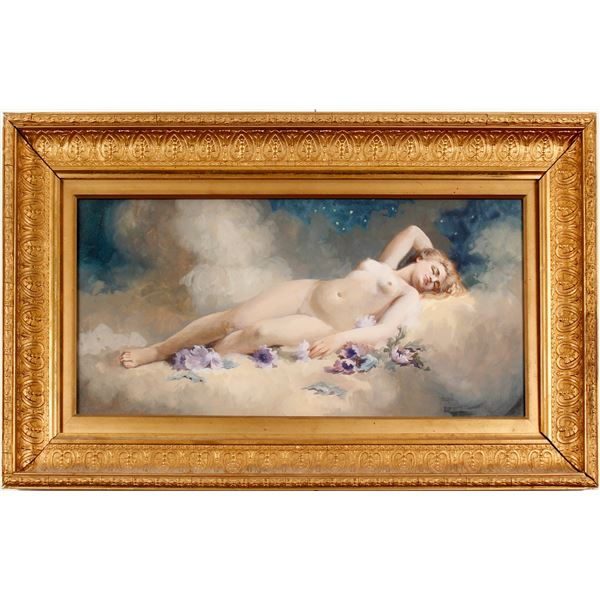 Andrew Putnam Hill Gouache Nude  [78425]