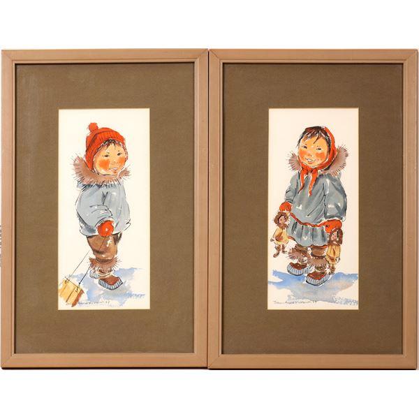 Kickbush Illustrations of Alaskan Children  [131934]