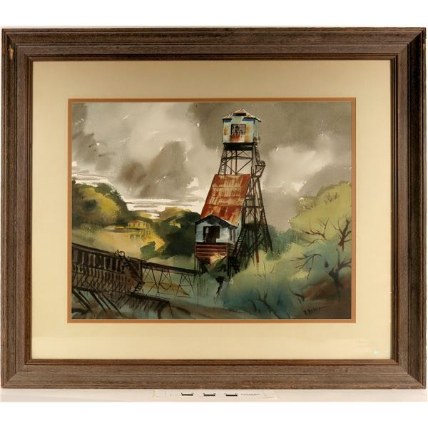 Kennedy Gold Mine, Watercolor by Ralph Baker  [125069]
