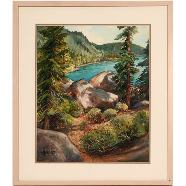 Lake Tahoe Watercolor by K. Young Ross  [109913]