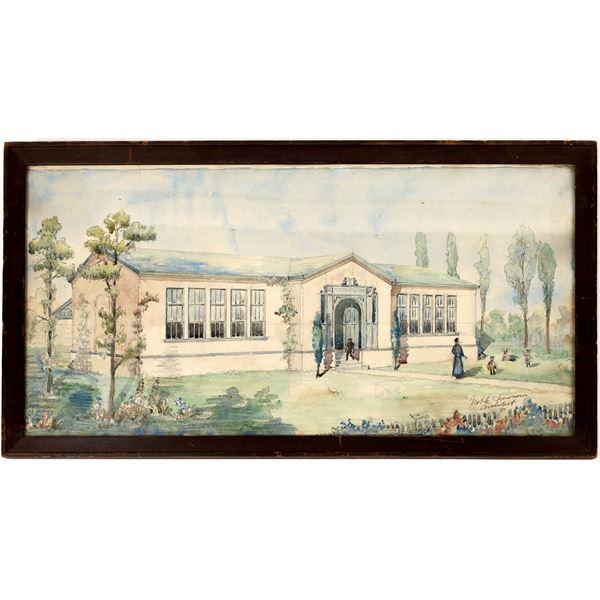 Noble Newsom Watercolor Rendering  [131605]
