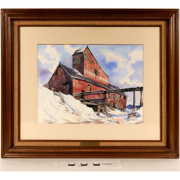 Coeur d' Alene Mine - Watercolor by Pat Patterson  [125064]