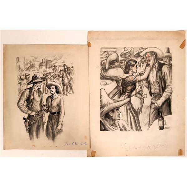 Cowboy Pencil Illustrations  [109868]