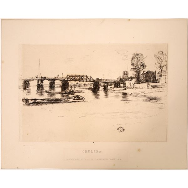 """McNeil Whistler Drawing """"Chelsea""""  [131958]"""
