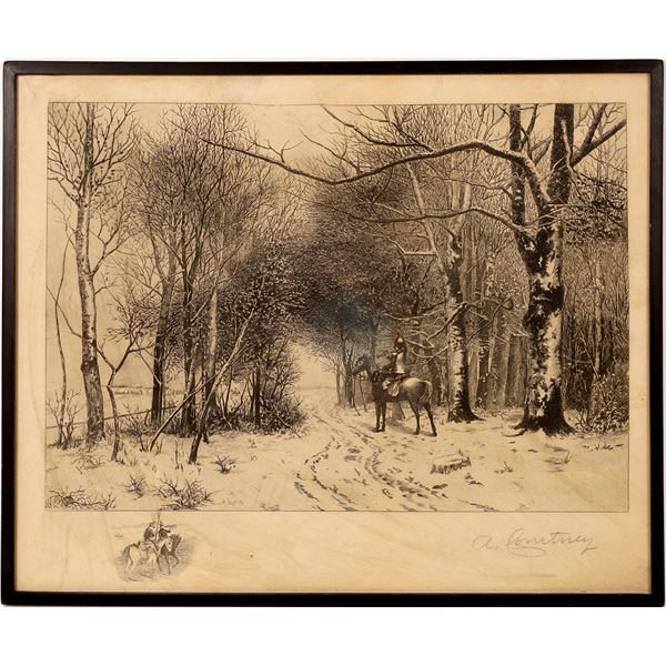 """Courtney Etching """"The Bugle Call""""   [131607]"""