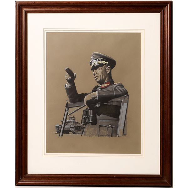 Field Marshal Erwin Rommel Print by Uwe Feist  [129686]