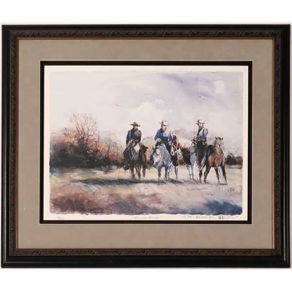 Ranch Horses Serigraph by Nevada Artist?  [114387]