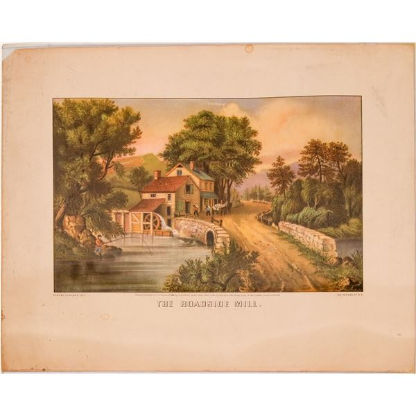 The Roadside Mill, Published, Currier & Ives  [116731]