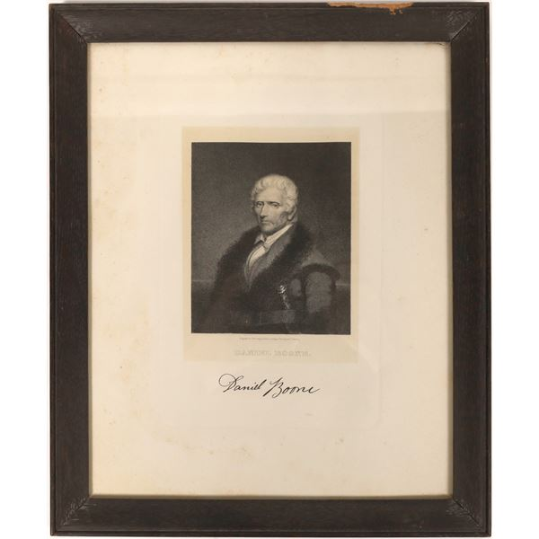James Longacre Daniel Boone Engraving  [131609]