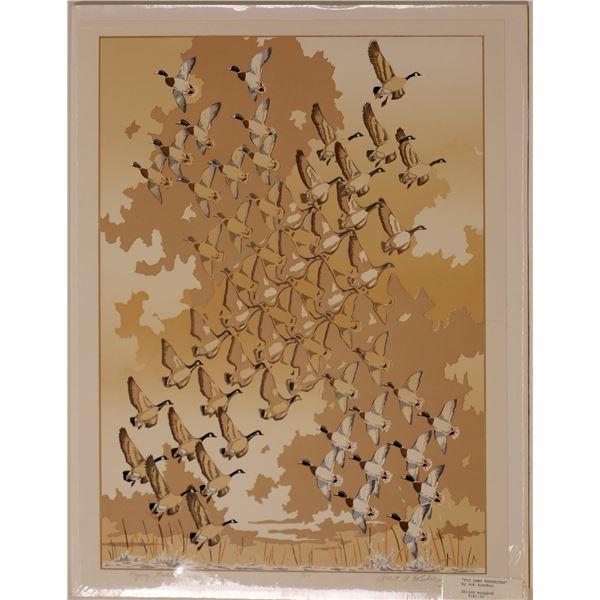 """Robert A. Kercher Serigraph """"Fly Away Favorites""""   [131944]"""