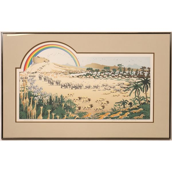 "Robert A. Kercher Serigraph ""Noah's Ark""   [131941]"