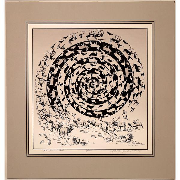"Robert A. Kercher Serigraph ""The Full Circle""   [131946]"