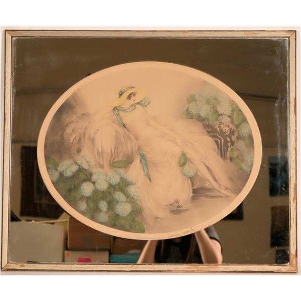 "Louis ICart Art Deco Period, Signed, Framed, Original Print; ""Hydrangeas""  [116720]"