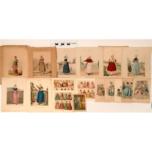 French Fashion Color Prints  [122798]