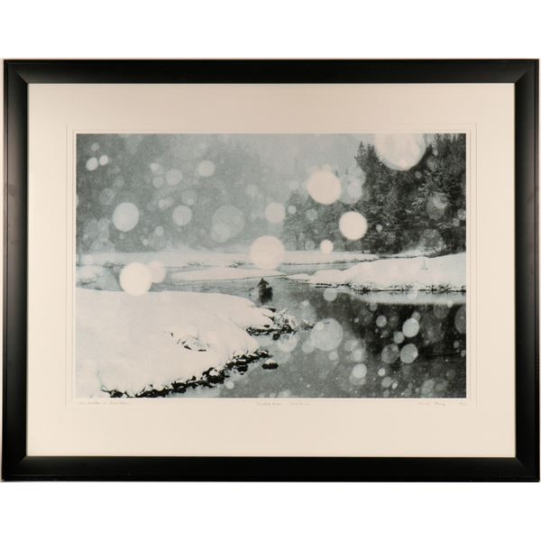Lone Paddler in Snow Storm  [125150]