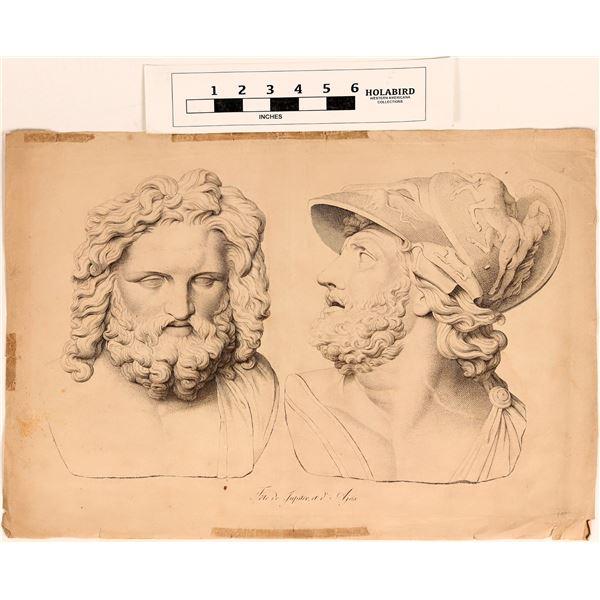 Heads of Jupiter and Ajax, Large Engraving  [124632]
