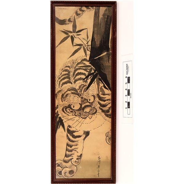 Kikukawa Wood Block Tiger Print  [125970]