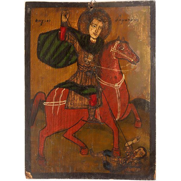 Paint on Wood St. Demetrius of Thessaloniki  [131982]