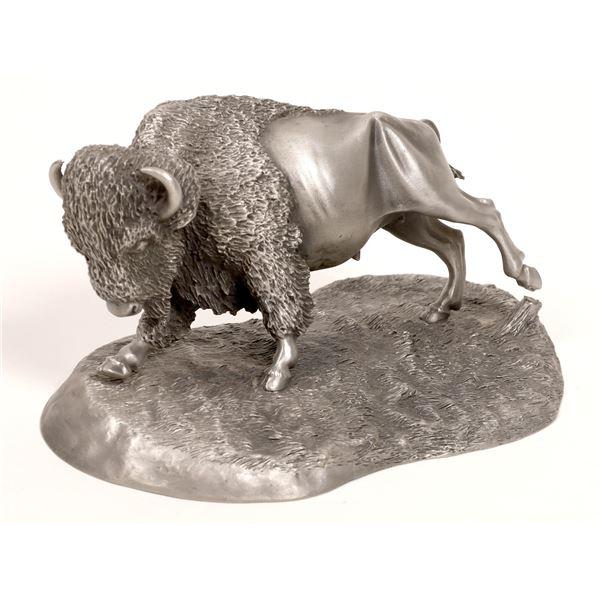 American Bison, Pewter Sculpture by Brian Rodden  [132887]