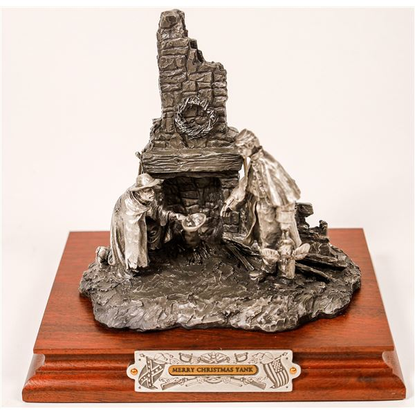 Chilmark Civil War Merry Christmas Yank Pewter Sculpture by F. J. Barnum  [131913]