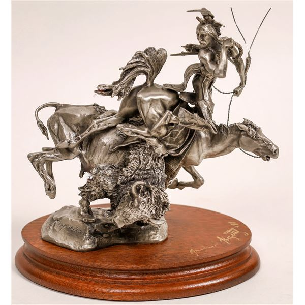 Plight of the Huntsman, Pewter Sculpture by Michael Boyett  [132896]