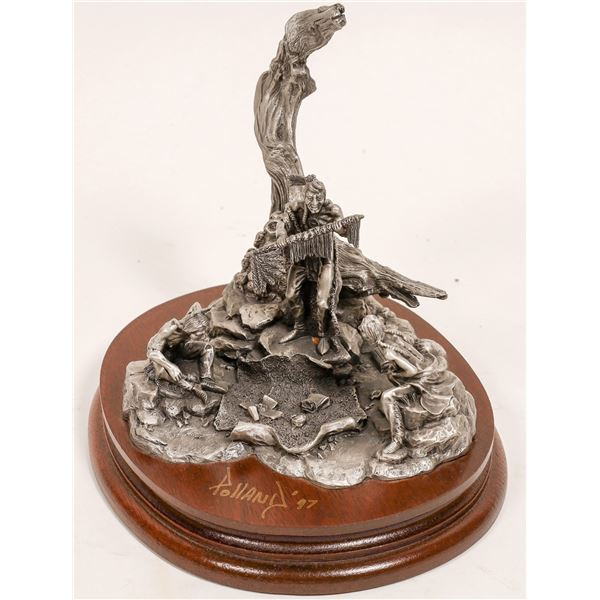 Thunder Pipe, Pewter Sculpture by Don Polland  [132890]