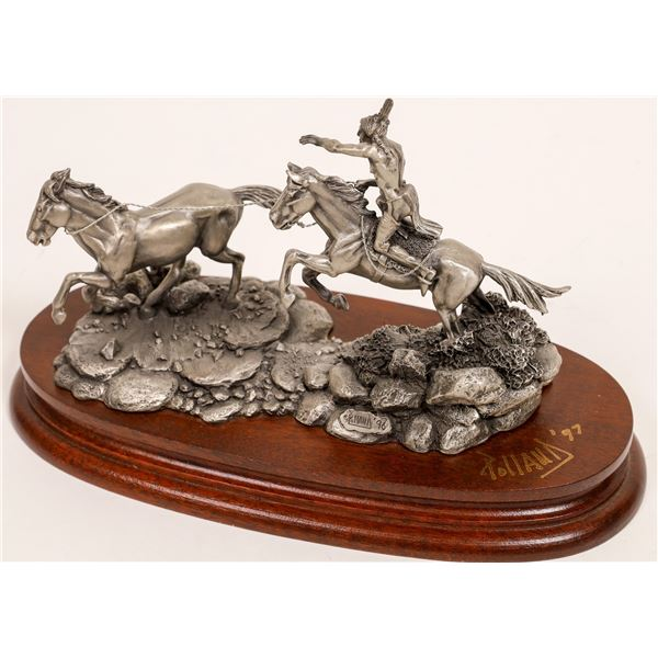 Two For the Price of One, Pewter Sculpture by Don Polland  [132893]