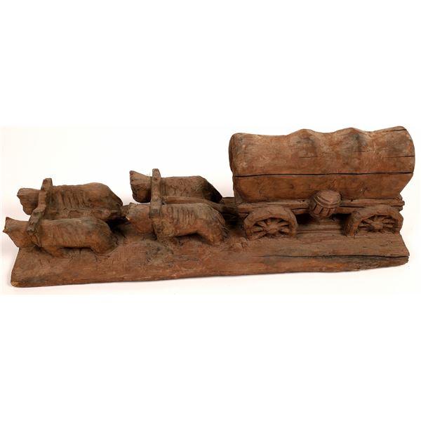 Wood Carving Folk Art Piece  [131410]